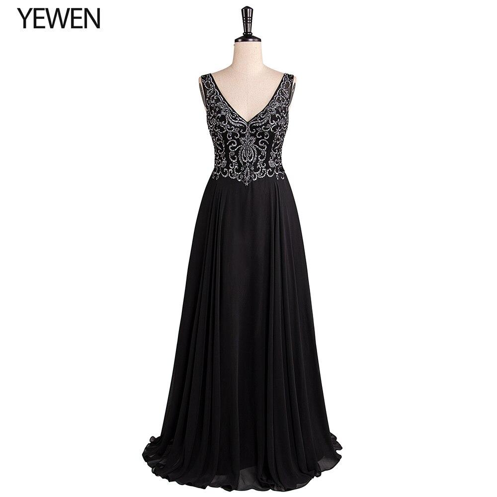 Платье подружки невесты es с двойным v-образным вырезом Черное Элегантное Длинное официальное свадебное платье подружки невесты для женщин