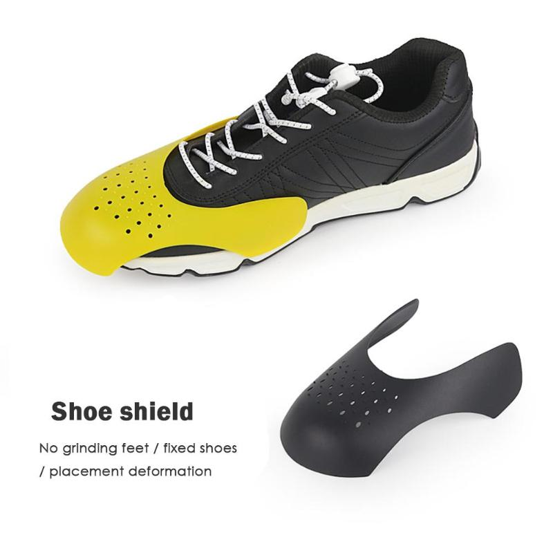 1 Pair Anti Crease Wrinkled Fold Shoes Support Stretcher Shoes Shields Take Out The Insole Put It In The Shoe Shield Yellow