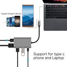 AIREACH USB HDMI typ c Hdmi mac 3 1 Adapter konwertera Typec na hdmi HDMI USB 3 0 USB C dla adaptera Apple Macbook tanie tanio TYPE-C W połączeniu Typu FX-PD75 0 085kg 7 2*4 8*1 0cm Output USB3 0*3 HDMI 4k@30Hz+Power Delivery USB hub support hot-swappable