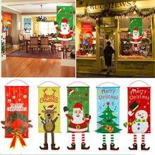 Decoración Para el hogar, Feliz Navidad, puerta del porche, cartel colgante, ornamento de paño, Feliz Navidad, 2020, año nuevo 2021