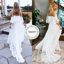 Sexy Maternity Photography Prop Maternity Dresses For Photo Shoot Lace Maxi Gown Clothes 2020 Off Shoulder Women Pregnancy Dress