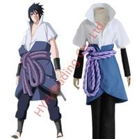 Anime Naruto Shippuden Sasuke Uchiha Cosplay Costume Ninja Sasuke Wig