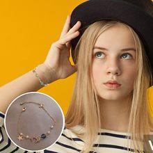 Браслеты Menina Bonito Da Estrela Da Lua Pulseira de Zircão Doce Pequeno Best Friend Bracelet Mulheres Braceletsjewelry Pulseiras Acessórios