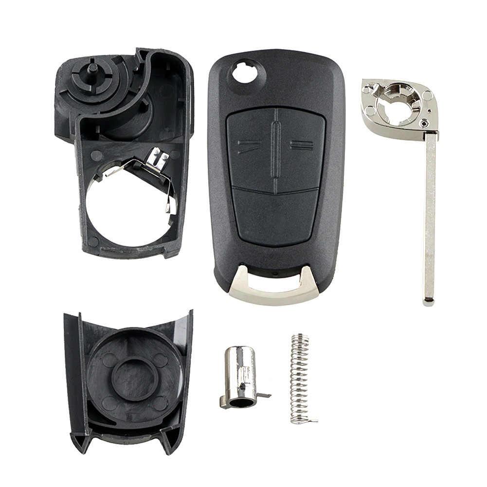 2 Butoons pliant porte-clés coquille télécommande Fob pour Vauxhall/Opel/Astra H/Corsa D/Vectra C/Zafira