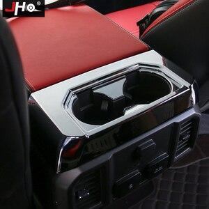 Image 5 - JHO ABS פחמן תבואה אחורי מחזיק כוס פנל כיסוי כיסוי Trim עבור פורד F150 2016 2019 2017 Raptor מוגבל 2018 אביזרי רכב