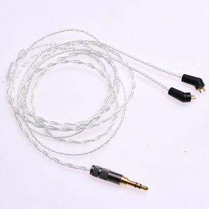 Image 1 - 1.2m (4ft) 5N OCC posrebrzane słuchawki kabel Upgrade dla Etymotic ER4P ER4B ER4S HiFi kabel 2Pin wtyczka