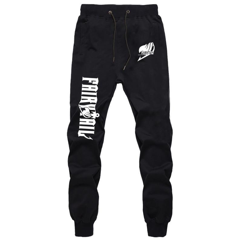 Anime Fairy Tail Natsu Gray Pants Autumn Winter Men Joggers Fitness Long Trousers Streetwear Sweatpants Plus Size