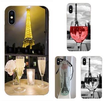 Miłość na żywo na kieliszek do wina w paryżu wieża eiffla do Samsung Galaxy Note 5 8 9 S3 S4 S5 S6 S7 S8 S9 S10 5G mini krawędzi Plus Lite