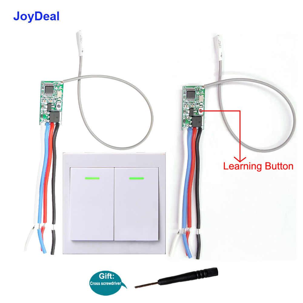 Interruptor de Control remoto inalámbrico de 433Mhz 5V 12V 24V módulo receptor Micro RF interruptor de luz de lámpara Led 433 MHz ASK Radio relé interruptores