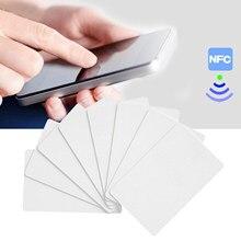 Tarjetas NFC regrabable en blanco de PVC Ntag215 tarjetas NFC para Tagmo Amiibo juegos NFC teléfono dispositivos tarjeta de Control de acceso