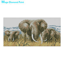 animal africa elephant Moge Diamond Painting Full Round New DIY Toy sticking drill cross stitch 5D embroidery home decorative