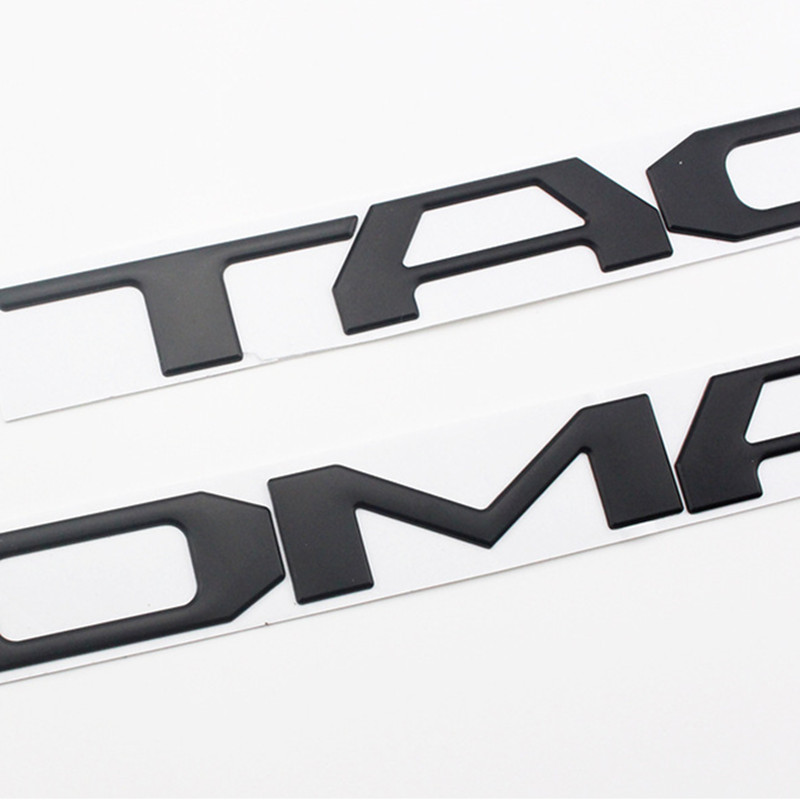 High quality 3D ABS Letters Emblem Badge Car sticker Decals For Toyota Tacoma 2016 2017 2018 2019 2020 Tailgate Accessories in Car Stickers from Automobiles Motorcycles