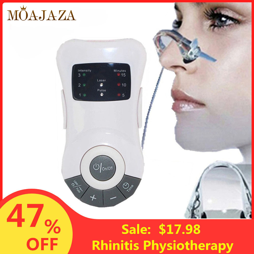 Allergy Rhinitis Sinusitis Reliever Electric Therapy Nose Cleaner Massage Cure Hay Fever Low Frequency Pulse Laser Health Care