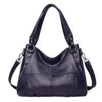 ZDG bolsos de mano de lujo de moda para mujer bolso de hombro de alta calidad bandolera de cuero de PU bolso de compras negro para mujer