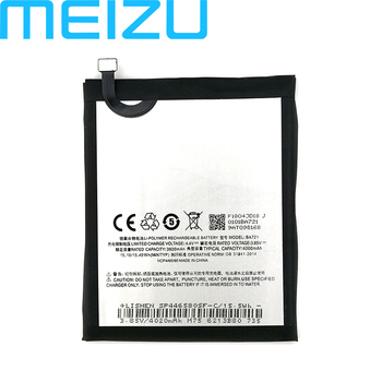 Meizu BA721 Battery For Meizu Note 6 M6 M721H M721L Phone 100% Original 4000mAh Battery+Tracking Number meizu 100% original 3060mah bt65m battery for meizu mx6 mobile phone battery with tracking number