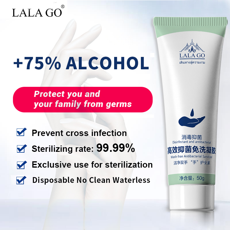 HEMEIEL 75% Alcohol Disposable Hand Sanitizer Gel Disinfecting Hand Wash Gel Anti Virus Bacteria Aloe Vera Hand Soaps Quick Dry