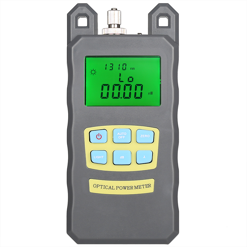 Comptyco AUA-70A Fiber Optical Power Meter Fiber Tester Light Decay Loss Test Send FC / SC Adapter Gray