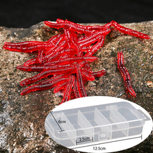 Lures Fishing Sea-Trout Red Worm Artificial-Bait-Tackle Carp 50pcs/silicone for Goods