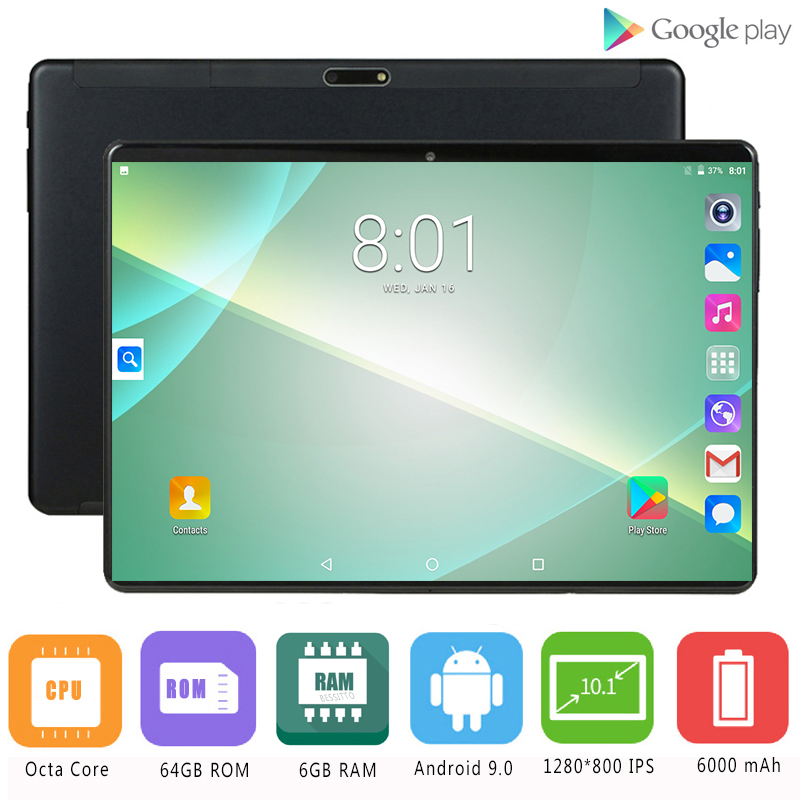 Tablet PC Sim-Cards Wifi New10inch Android Octa-Core Dual 4G LTE 6gb Ram 64GB Tempered-2.5d-Glass title=