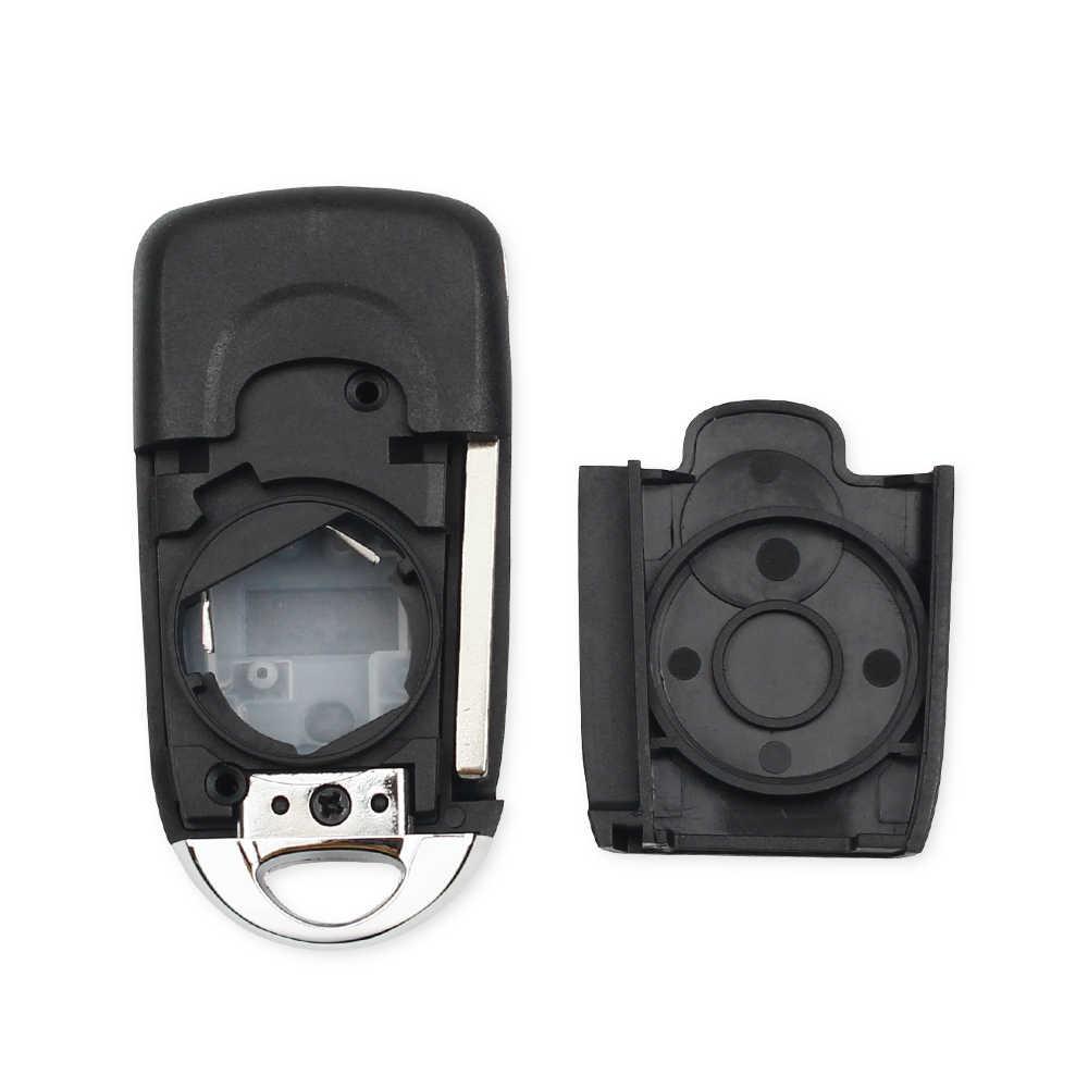KEYYOU 3 כפתור שונה Flip מתקפל מרחוק רכב מפתח Shell Case עבור שברולט Cruze Epica לובה קמארו Impala Aveo Replacemen