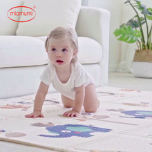 Miamumi Foam Carpet for Baby Play Gym Pad Floor Mat Child Crawling Rug Elepant Animals Bay XPE