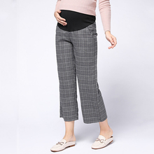 цены Adjustable Trousers for Pregnant Women Clothes Elastic Waist Maternity Pants Retro Comfortable Loose Pregnancy Clothing