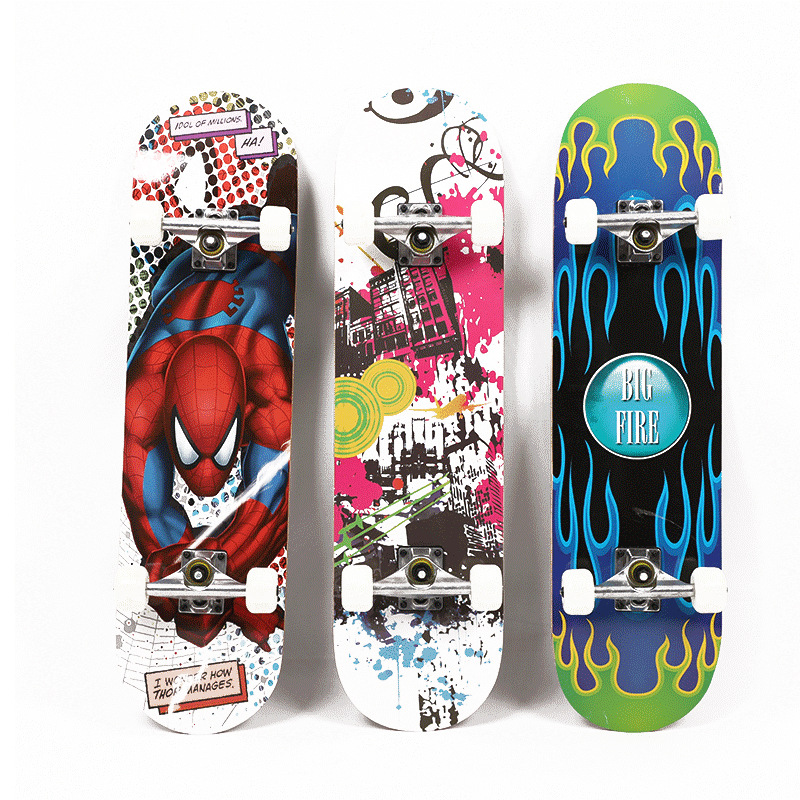 Manufacturers Direct Selling New Style Four Wheel Skateboard Creative Colorful Single Rocker Skateboard Teenager Highway Brush S