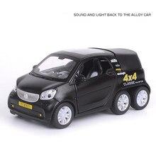 Hot 1:36 skala koło pojazdu diecast car benz smart for-us ciężarówka typu Pickup z lekkim dźwiękiem metal model wycofać kolekcja zabawek