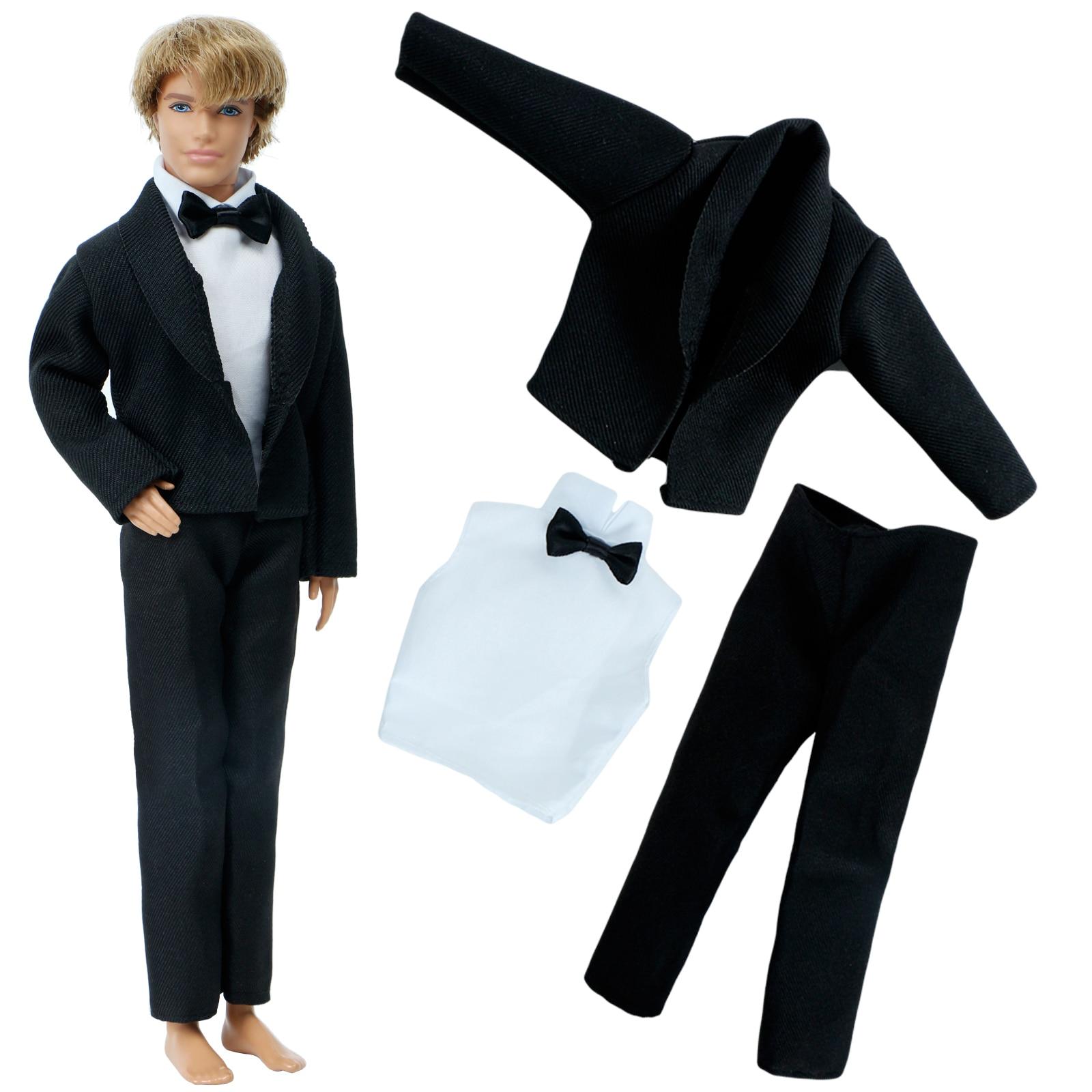 Doll 30cm Ken Male MAN Clothes Suit Jacket Pants Outfits For Ken