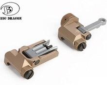 טקטי KAC סגנון 300M Flip Up מתקפל ברזל מראה קדמי אחורי Sight עבור MK18 Airsoft ציד