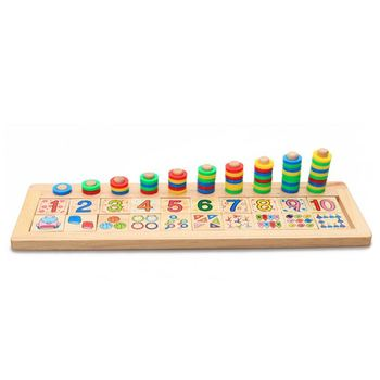 Children Wooden Montessori Materials Learning To Count Numbers Matching Early Education Teaching Math Toys wooden education baby kindergarten mouse thread cheese plaything early learning education toys montessori teaching aids math to