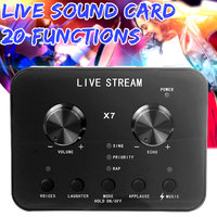 Audio USB External Sound Card Headset Microphone Webcast Personal Entertainment Streamer Live Broadcast for PC Phone Computer