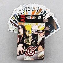 Anime ninja cartões de poker brinquedo kakashi sasuke akatsuki cosplay cartas de jogo de tabuleiro com caixa coleção presente