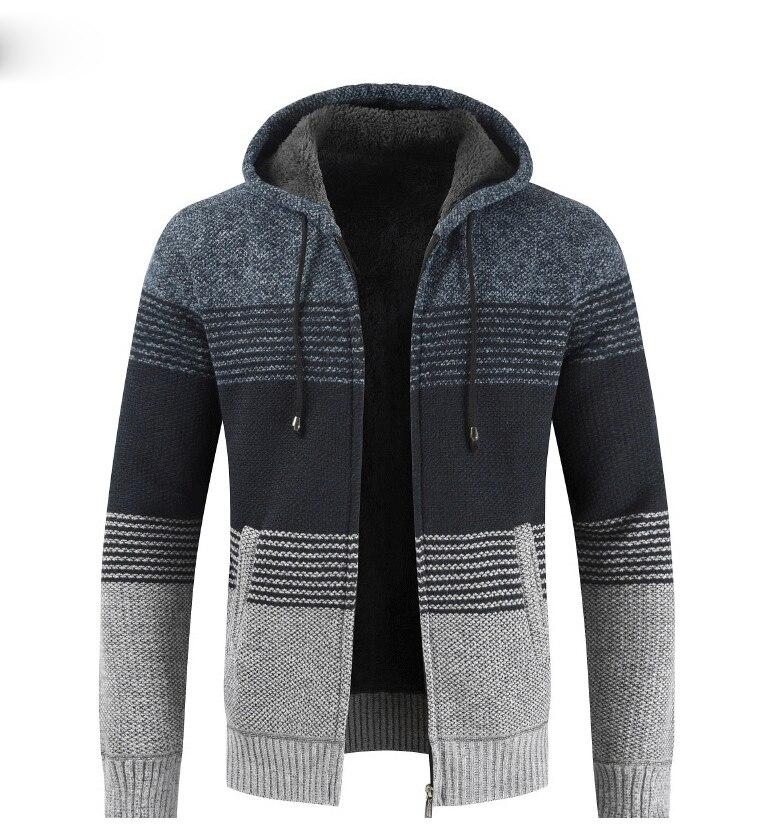 H4d639b5d19ae4723afa4c461abe0b8672 NEGIZBER 2019 Winter Mens Coats and Jackets Casual Patchwork Hooded Zipper Coats Men Fashion Thick Wool Jacket Men Streetwear