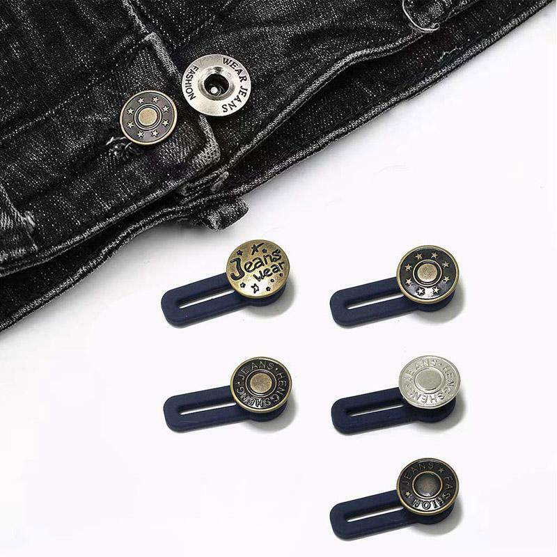 10pcs Jeans Retractable Button Adjustable Detachable Extended Button For Clothing Jeans XRQ88