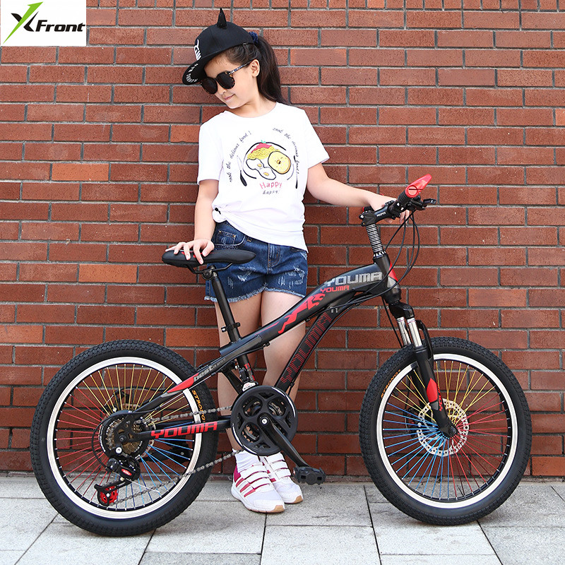 New Brand Mountain Bike Carbon Steel 21 Speed 20/<font><b>24</b></font> inch Wheel Child Lady Student Bicycle Outdoor Sport Disc Brake <font><b>BMX</b></font> Bicicleta image