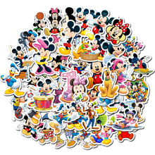 50-80 шт Дисней не повторяющийся мультфильм анимация Микки Маус наклейки игрушка багаж гитара личность граффити наклейки