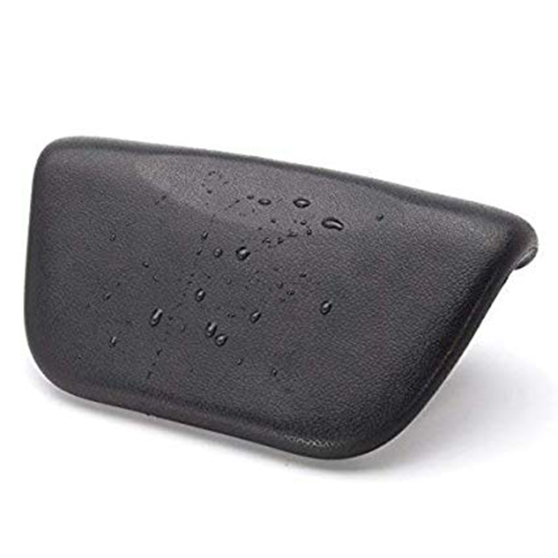 Spa Bath Pillow, PU Bath Cushion With Non-Slip Suction Cups, Ergonomic Home Spa Headrest For Relaxing Head, Neck, Back And Shoul