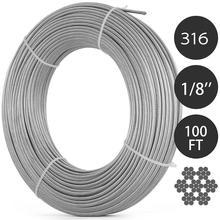 VEVOR 304 cavo in acciaio inossidabile 0.18 pollici 7X19 cavo in acciaio 100 piedi cavo in acciaio per ringhiera Decking balaustra fai da te