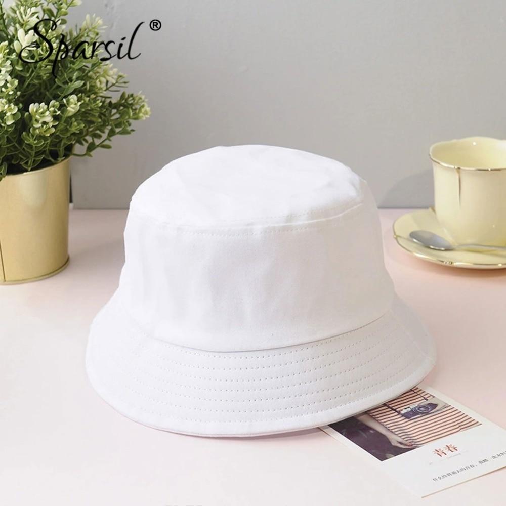 Sparsil Unisex Summer Foldable Bucket Hat Women Outdoor Sunscreen Cotton Fishing Hunting Cap Men Basin Chapeau Sun Prevent Hats 2