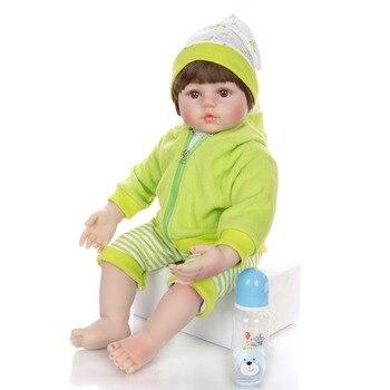 Lovely 60 cm Reborn Toddler Dolls 24 Inch Lifelike boy bebe Reborn Doll For Kids Children's Day Gifts l.o.l toy dolls