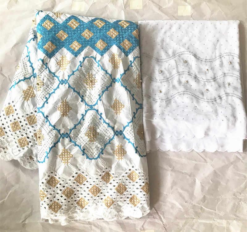 Nero bazin riche getzner 2019 nouveua di cotone bianco tessuto di pizzo secco con perline e pietre donne di modo bazin riche 7 metri