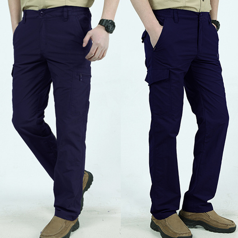 Men Work Multi-Pockets Cargo Pants Climbing Hiking Quick Dry For Outdoor Summer K2