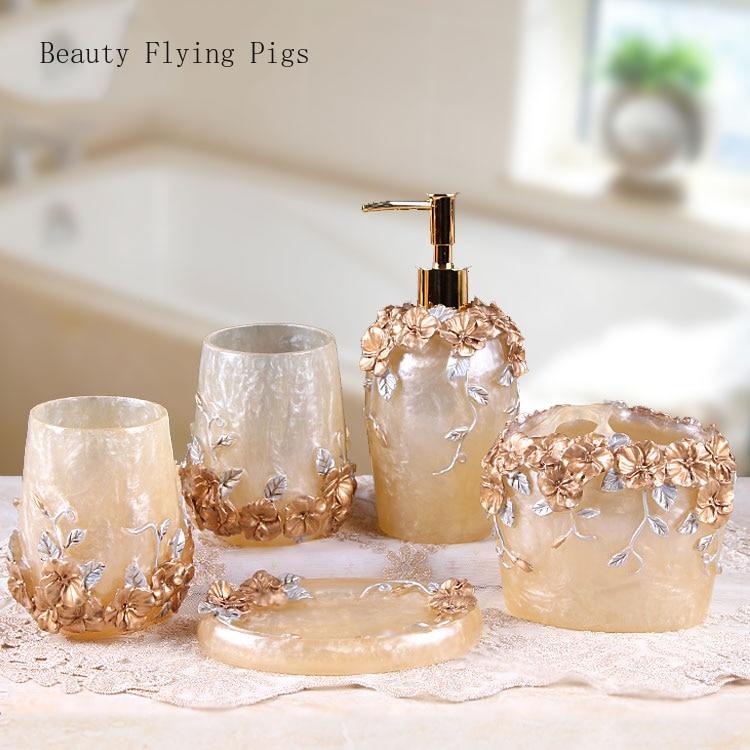 Flowers Antique Bathroom Resin