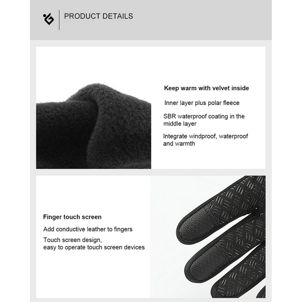 Ветрозащитные велосипедные перчатки теплые для сенсорных экранов