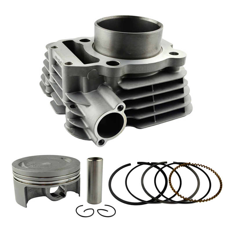 Motorcycle Engine Parts Bore Size STD <font><b>74mm</b></font> Air Cylinder Block & <font><b>Piston</b></font> <font><b>Rings</b></font> Kit For Yamaha YBR250 2007 2009 1S4-11311-00-A0 image