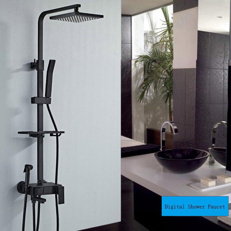 H4d64b1de5e5c47368b540150ce864c5dv Thermostatic Digital Display Shower Faucet Set Shower Mxer Crane Rain Shower Bath Faucet Bathtub Shower Mixer Taps Bidet Faucet