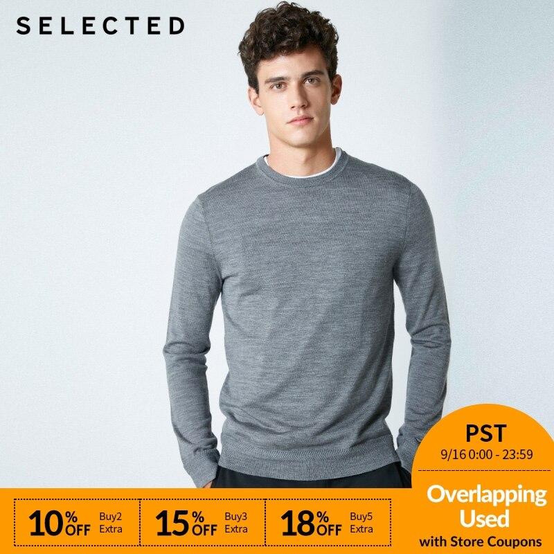 SELECIONADO novo macho puro Itália lã malhas camisola S | 418424503