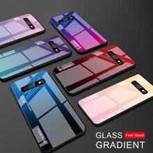 Coque S10 verre trempé pour Samsung Galaxy S10 Plus S 10 e S20 coque de protection arrière en verre Ultra dégradé S 10 S10E 10lite