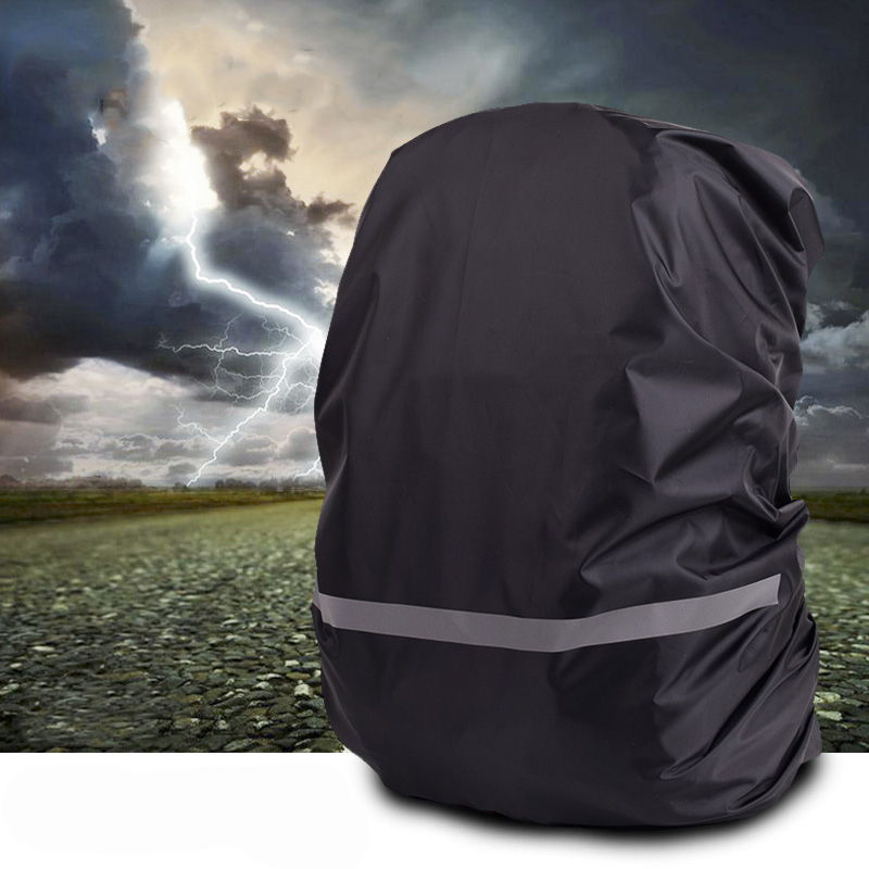 Backpack Rainproof Cover Case Reflective Strip Waterproof For 8-70L Back Bag Knapsack Rain Proof Outdoor Night Rainy Convenient